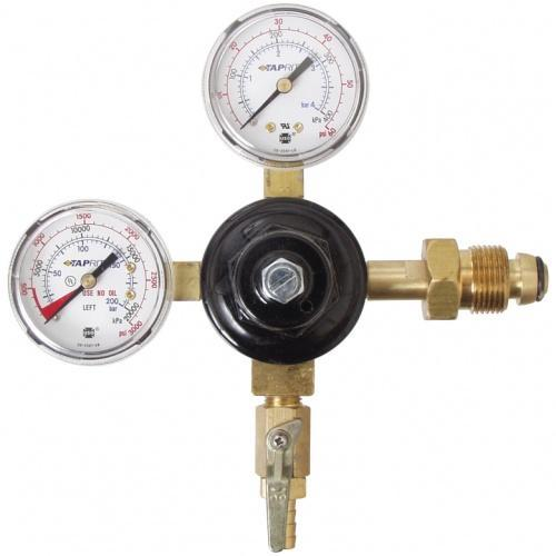 Taprite C02 Regulators Nitrogen/Argon Regulator - Dual Gauge