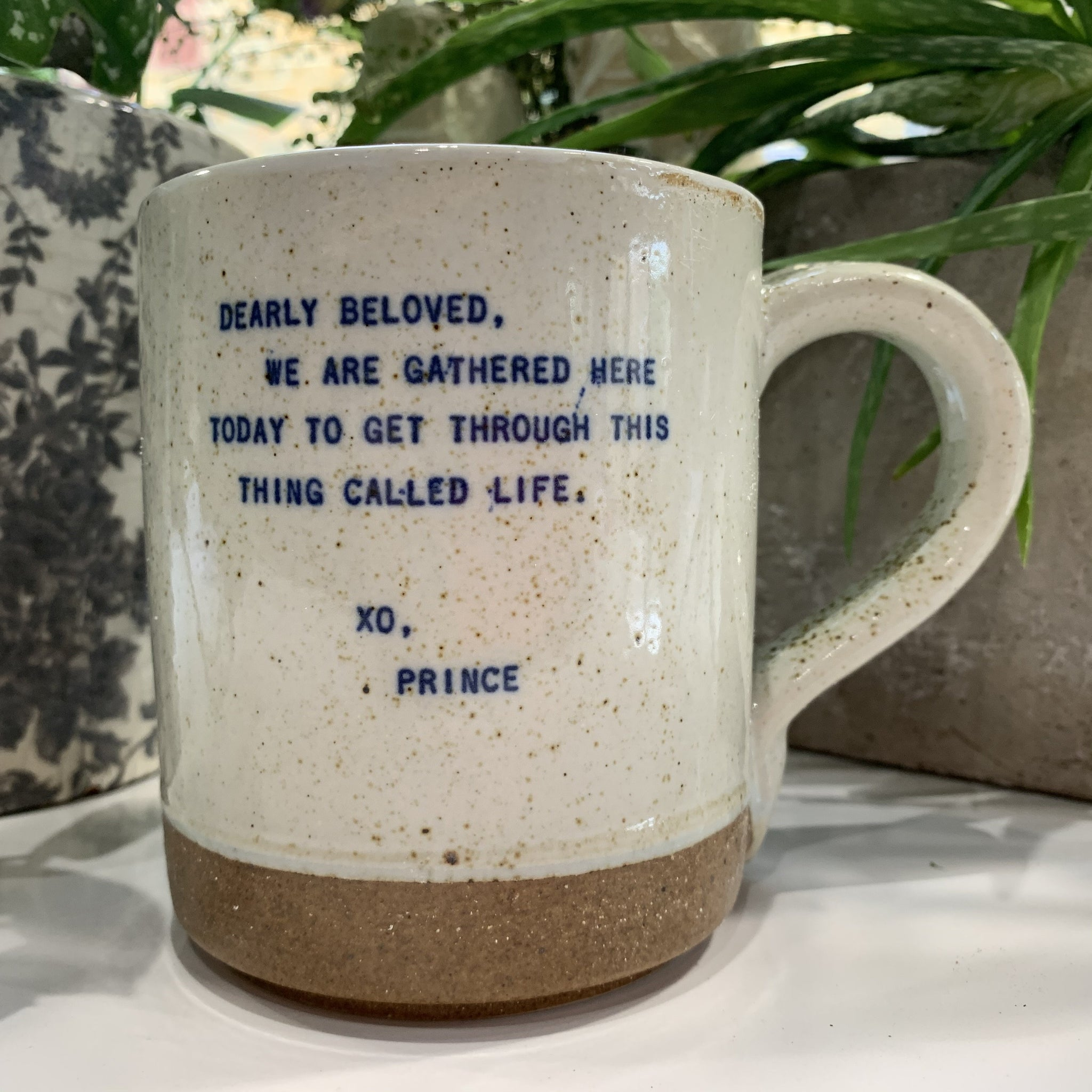 "XO Mug - Prince Quote: ""Dearly Beloved. We Are Gathered Here Today..."" - mylesfromhome.co.uk"