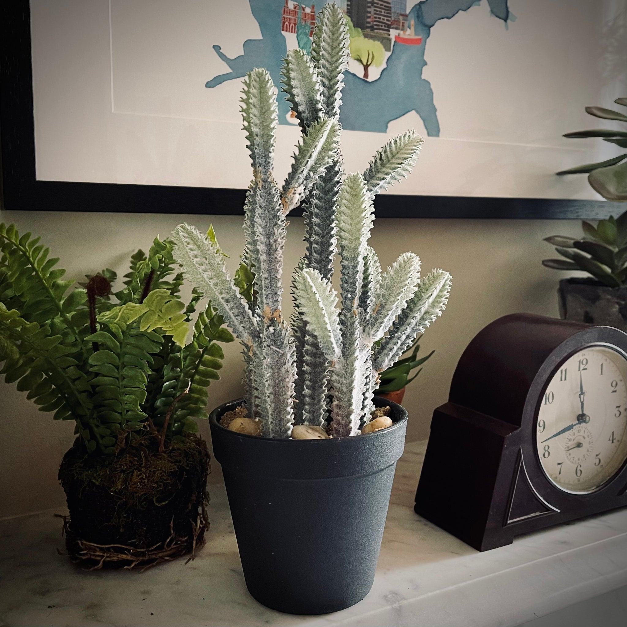 Potted Faux Euphorbia Cactus - mylesfromhome.co.uk