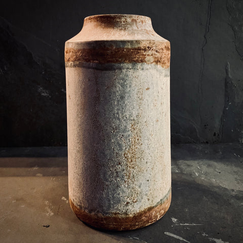 Bennu Aged Zinc Vase - Large - mylesfromhome.co.uk