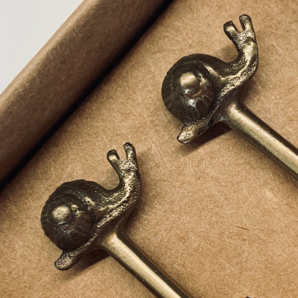 Snail Brass Spoon Set - mylesfromhome.co.uk
