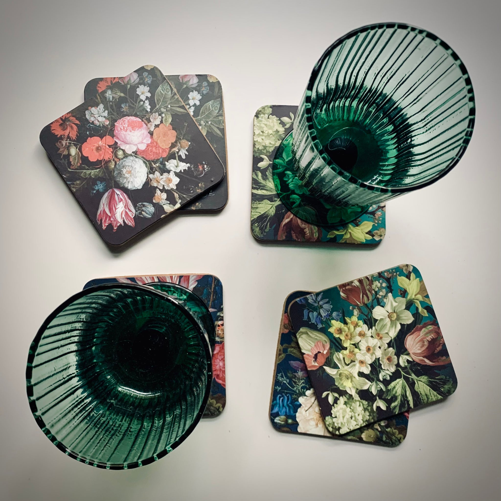 Dutch Floral Coasters - mylesfromhome.co.uk