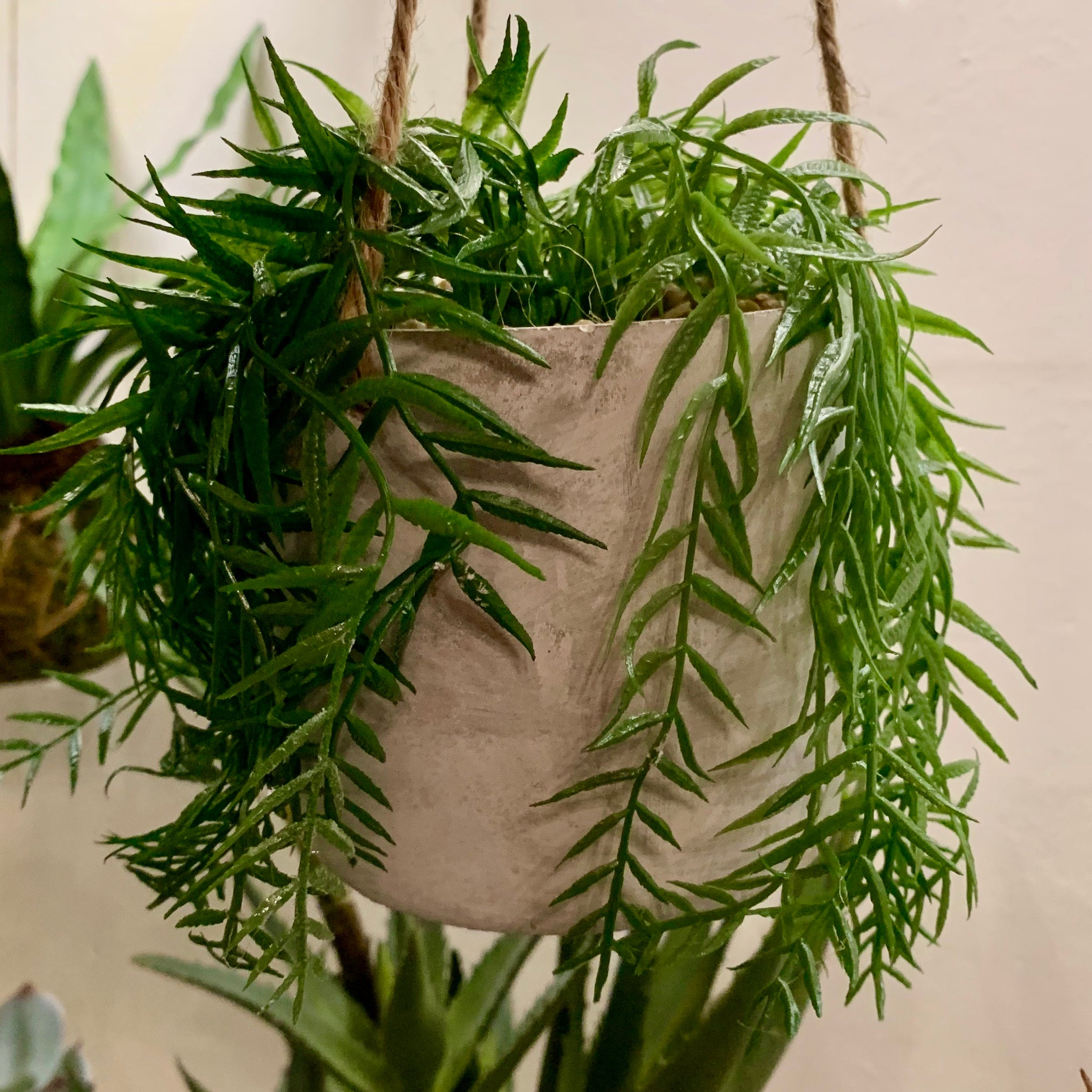 Faux Potted Hanging Grass - mylesfromhome.co.uk