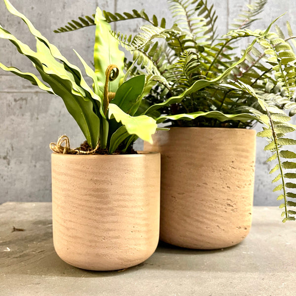 Stratton Straight Plant Pots - Set of 2 - mylesfromhome.co.uk