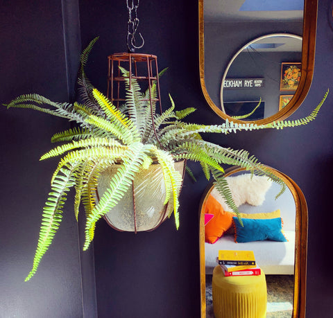 Faux Hanging Boston Fern - mylesfromhome.co.uk