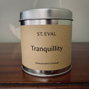 St. Eval Scented Candle Tin: Tranquility - mylesfromhome.co.uk