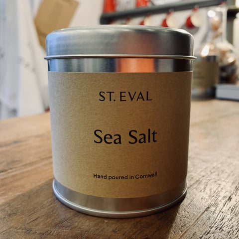 St. Eval Scented Candle Tin: Sea Salt - mylesfromhome.co.uk