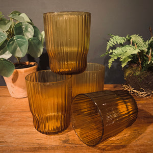 Fali Tumbler in Amber (Set of 4) - mylesfromhome.co.uk