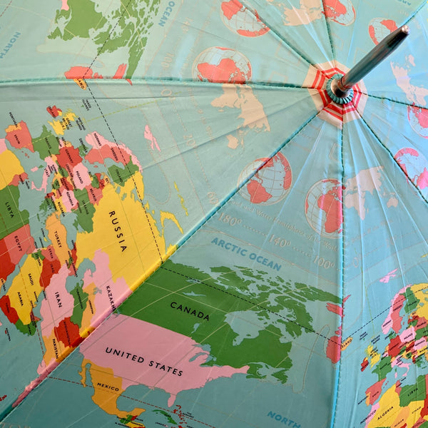 Globe Map Umbrella - mylesfromhome.co.uk