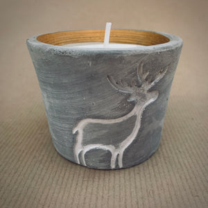 St. Eval Orange & Cinnamon Reindeer Candle Pot - mylesfromhome.co.uk