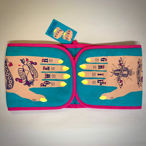 'Grill Power' Oven Gloves by Stuart Gardiner (Light Skin Tone) - mylesfromhome.co.uk