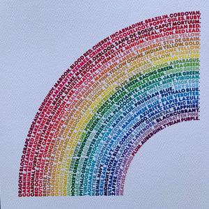 Stuart Gardiner 'Language of Colour' Rainbow Prints - mylesfromhome.co.uk