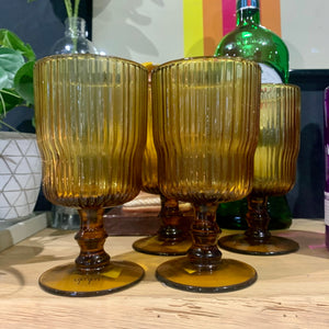 Fali Wine Glass in Amber (Set of 4) - mylesfromhome.co.uk