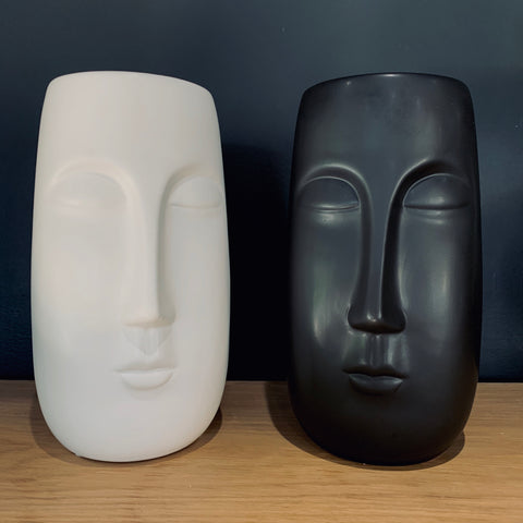 Tall Pagan Vase in Black or White - mylesfromhome.co.uk