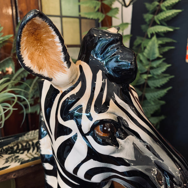 Ceramic Zebra Vase - mylesfromhome.co.uk