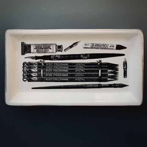 Monochrome Trinket Tray: Stationery - mylesfromhome.co.uk