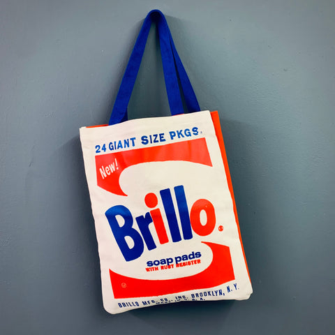 Andy Warhol 'Brillo' Canvas Tote - mylesfromhome.co.uk