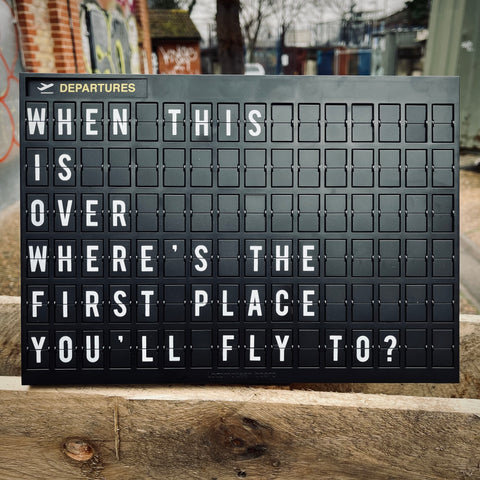 Airport Style Letter Board - mylesfromhome.co.uk