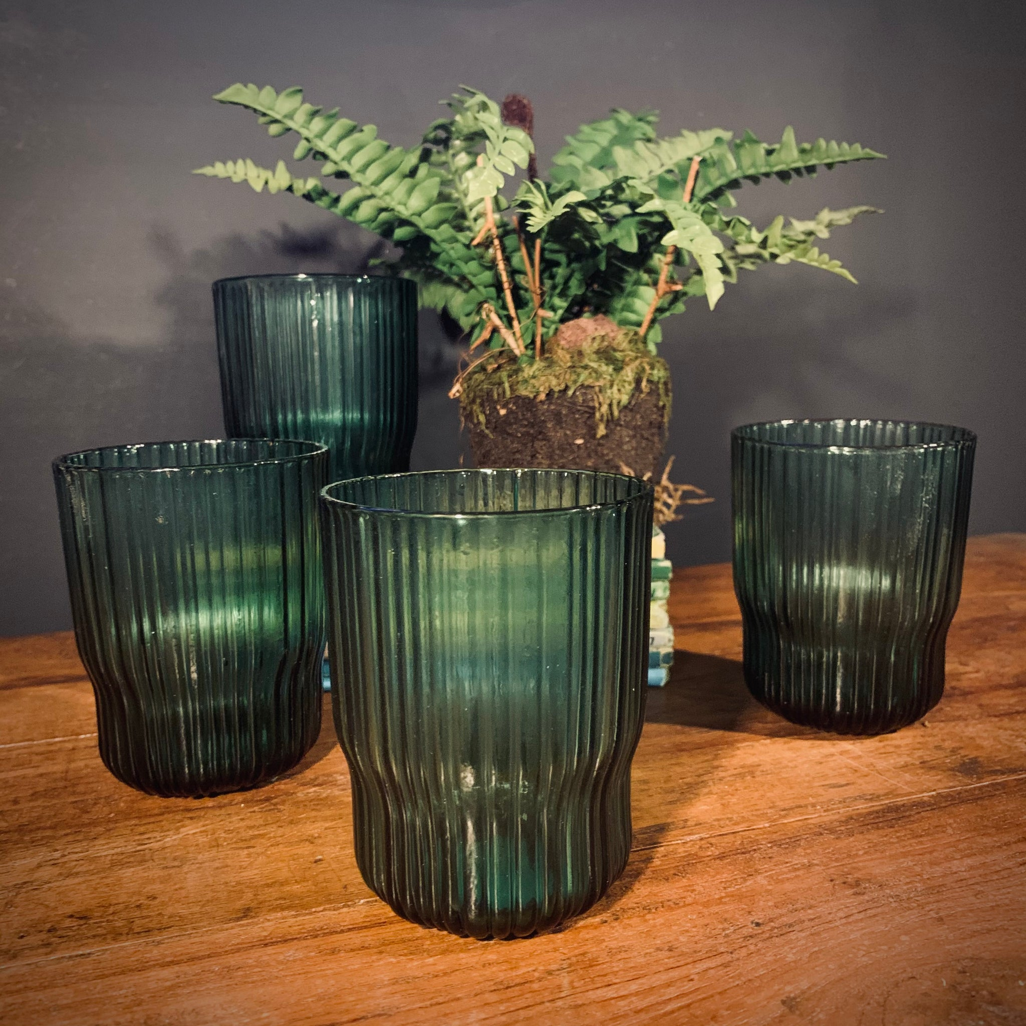Fali Tumbler in Teal (Set of 4) - mylesfromhome.co.uk