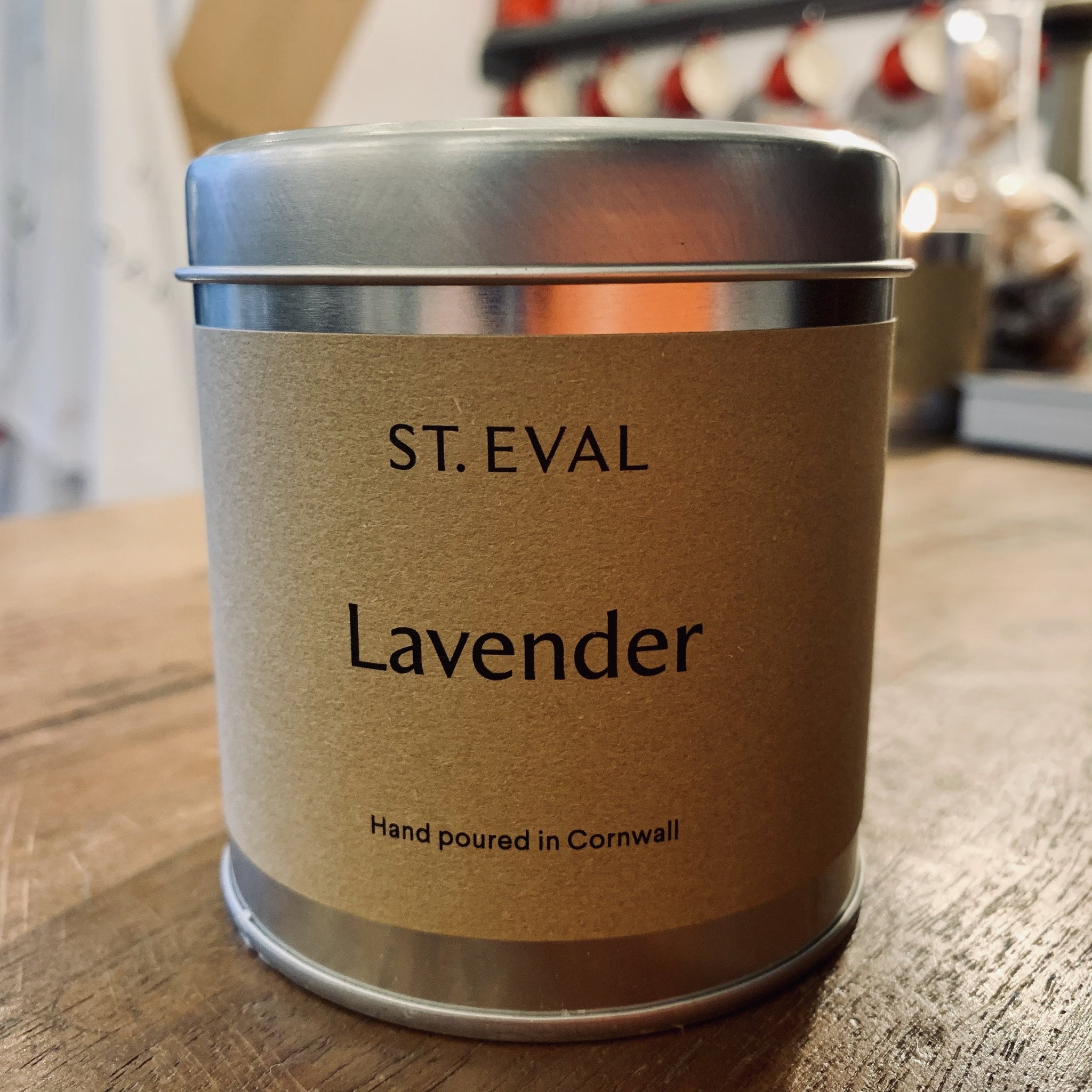 St. Eval Scented Candle Tin: Lavender - mylesfromhome.co.uk