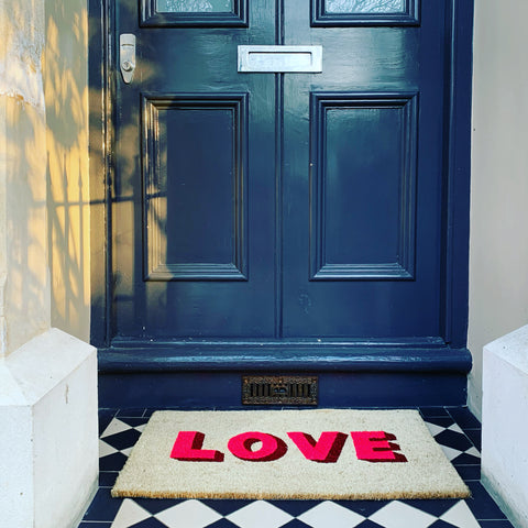 Cheerful Welcome Door Mat - LOVE - mylesfromhome.co.uk