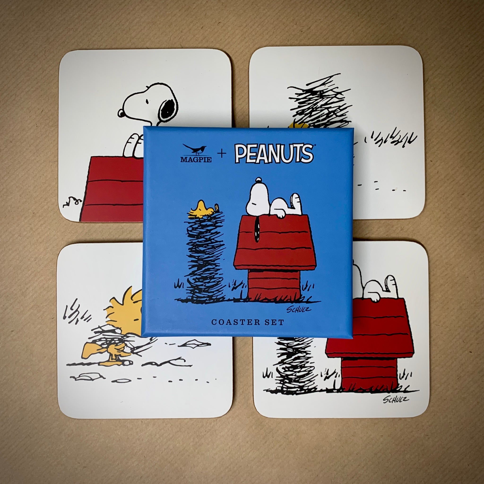 Peanuts (Snoopy) Set of 4 Coasters - mylesfromhome.co.uk