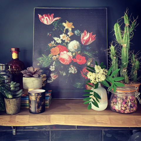 Dutch Floral Canvas - mylesfromhome.co.uk