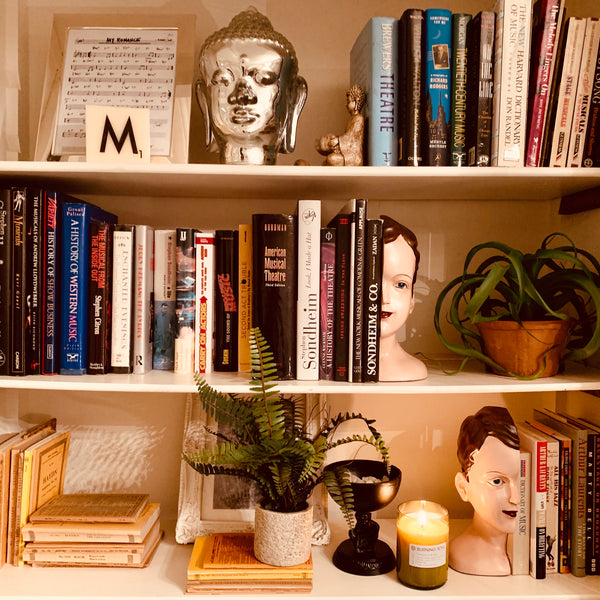 Antiqued Deco Head Bookends - mylesfromhome.co.uk
