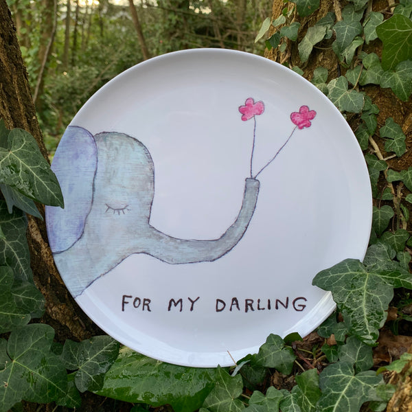 Art Print Dinner Plate - mylesfromhome.co.uk