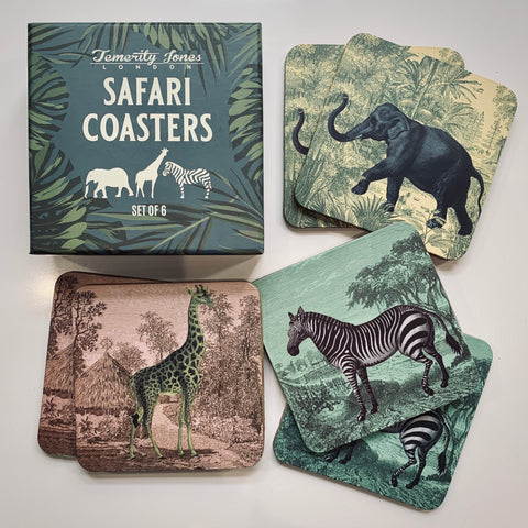 Safari Animal Coasters - mylesfromhome.co.uk