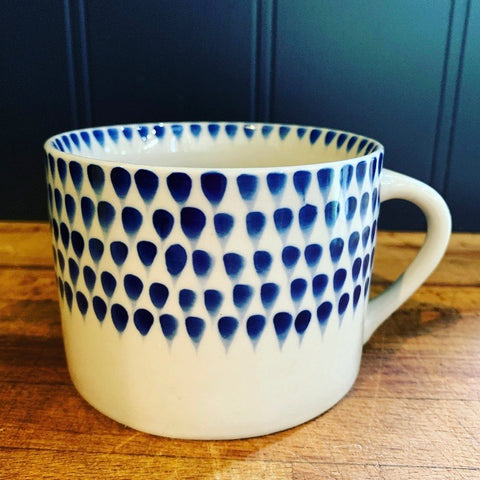 Indigo Drop Mug (Set of 2) - mylesfromhome.co.uk
