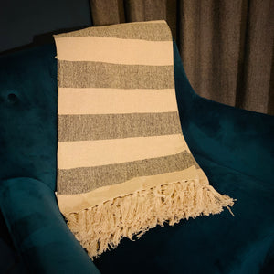 Scandi Boho Striped Blanket Throw - mylesfromhome.co.uk