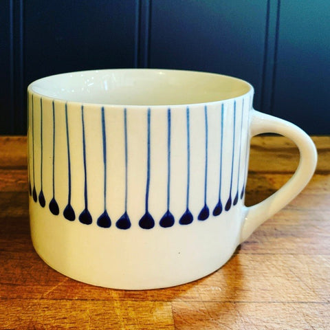 IBA Ceramic Short Mug - Indigo - mylesfromhome.co.uk