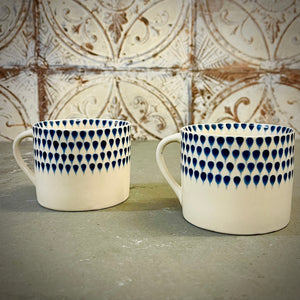 Indigo Drop Mug - Small (Set of 2) - mylesfromhome.co.uk