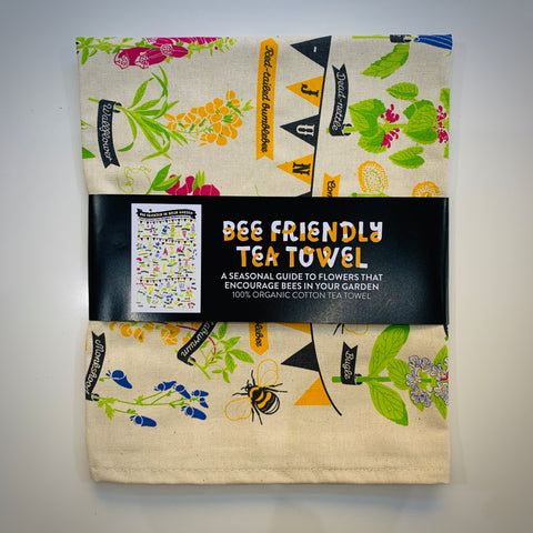 Bee Friendly Tea Towel - mylesfromhome.co.uk
