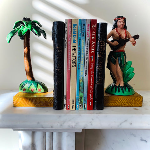 Cast Iron Palm Tree Paradise Pair of Bookends - mylesfromhome.co.uk