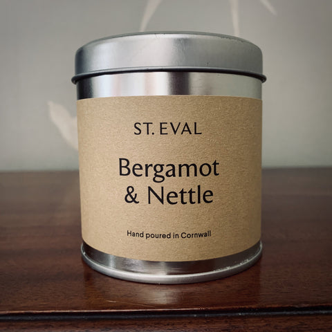 St. Eval Scented Candle Tin: Bergamot & Nettle - mylesfromhome.co.uk