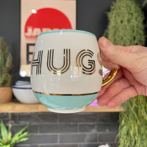 Gold Trimmed 'Hugs' Mug - mylesfromhome.co.uk