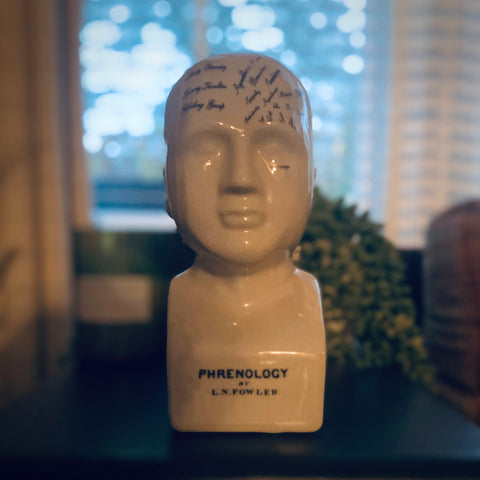 Antiqued Ceramic Phrenology Head - mylesfromhome.co.uk