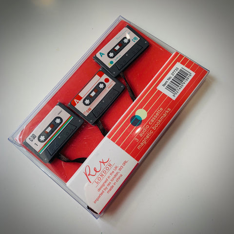 Cassette Tape Bookmark (Set of 3) - mylesfromhome.co.uk