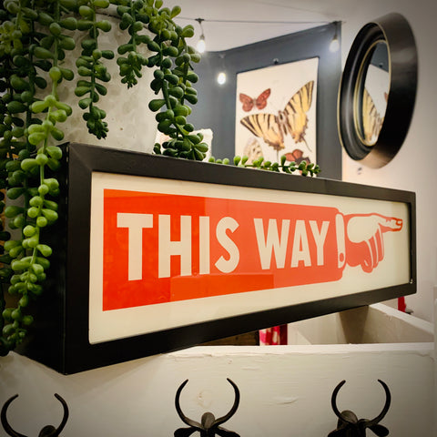 'This Way' Light Box - mylesfromhome.co.uk