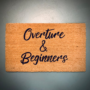 Theatre Door Mat: Overture & Beginners - mylesfromhome.co.uk