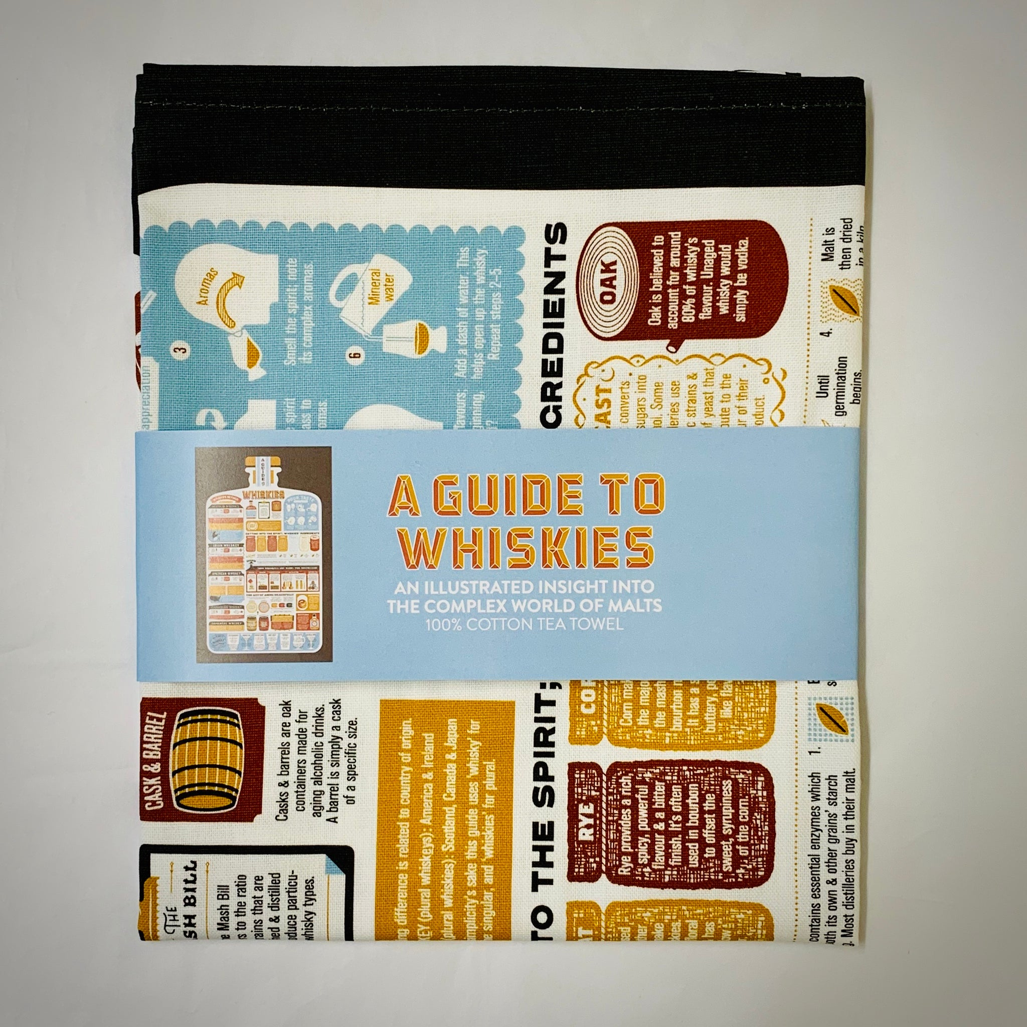 A Guide to Whiskies Tea Towel - mylesfromhome.co.uk