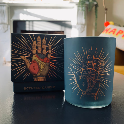 Phrenology / Palmistry Box Candle Pot - mylesfromhome.co.uk