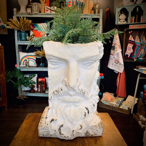 Tall Stone Effect Classical Face Planter - mylesfromhome.co.uk
