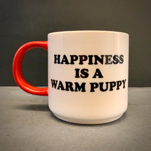 Peanuts (Snoopy) 'HAPPINESS IS A WARM PUPPY' mug - mylesfromhome.co.uk