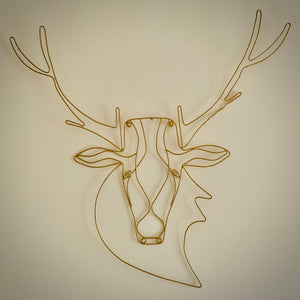 Stag Wire Wall Art - mylesfromhome.co.uk