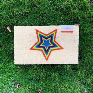 Cheerful Welcome Door Mat - STAR - mylesfromhome.co.uk