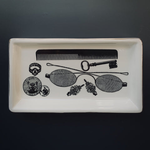 Monochrome Trinket Tray: Vanity - mylesfromhome.co.uk