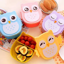 Cartoon Owl Lunch Bento Box- 4 styles- FREE + SHIPPING!